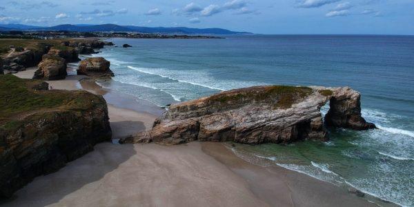 A caccia di spiagge in Costa Verde, Spagna